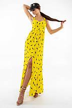 Женственный длинный желтый сарафан с корсетным верхом (Джемма ri), фото 2
