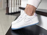 Подростковые (женские) кроссовки Nike Air Force,белые, фото 1