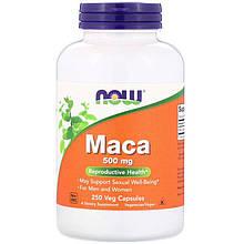"""Мака перуанская NOW Foods """"Maca"""" для мочеполовой системы, 500 мг (250 капсул)"""