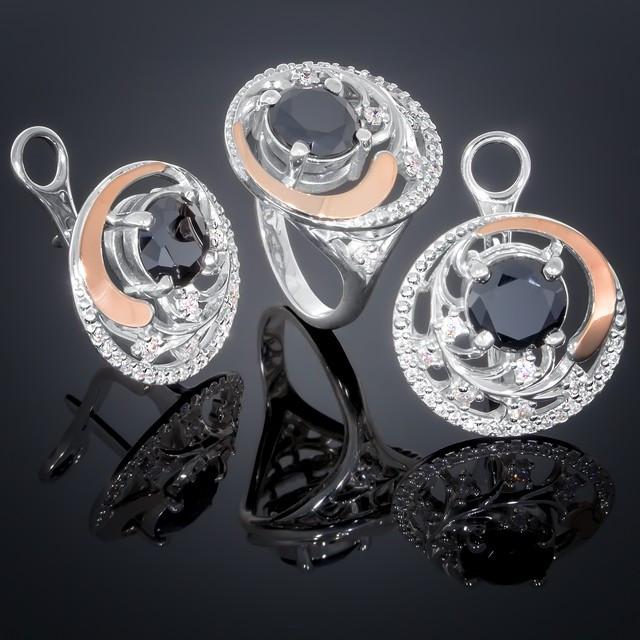 Женский комплект украшений 378 Черный