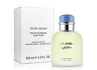 Мужская туалетная вода Light Blue pour Homme Dolce&Gabbana тестер, 125 мл