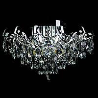 Хрустальная люстра СветМира на 6 лампочек со встроенной LED подсветкой рожков VL-2877/6+12 LED