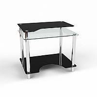Стол компьютерный из стекла модель Никс