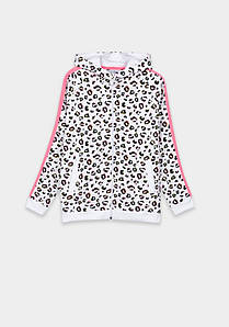 Кофта спортивная для девочки леопардовая
