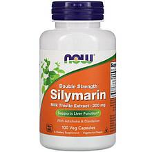 """Расторопша NOW Foods """"Silymarin"""" с экстрактами артишока и одуванчика, 300 мг (100 капсул)"""