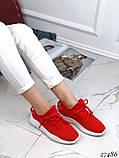 Женские кроссовки текстильные черные, белые, красные, фото 2