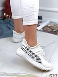 Женские кроссовки текстильные черные, белые, красные, фото 7