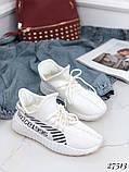 Женские кроссовки текстильные черные, белые, красные, фото 6
