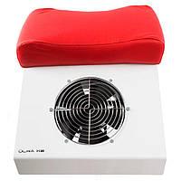 Вытяжка для педикюра (60 W) решетка, красная подушка, белый Ulka X2P