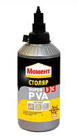 Клей ПВА Д3 Столяр Супер Момент 750 мл (Henkel, Хенкель столярный PVA D3)
