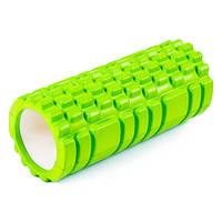 Ролик для йоги, пилатеса, фитнеса 45*14 см, зеленый