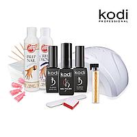 Стартовый набор для покрытия ногтей гель лаком Kodi c UV LED лампой SUN ONE, 48 Вт, белая