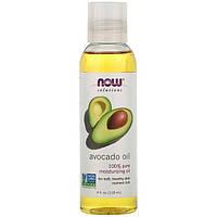 """Масло авокадо NOW Foods, Solutions """"Avocado Oil"""" чистое для кожи и волос (118 мл)"""