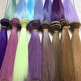 Волосся для ляльок (тресс) 15 * 100 см Колір 32, фото 3