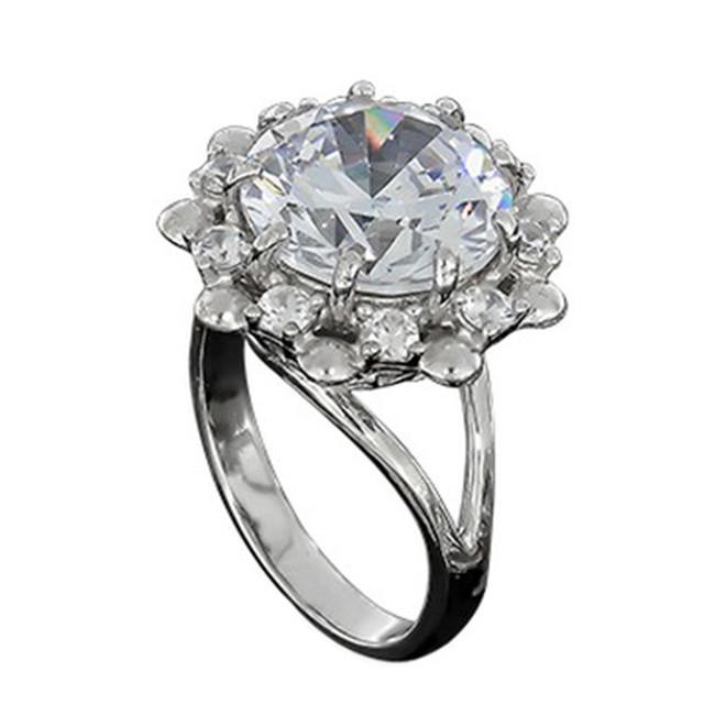Перстень Женский 609 White Rhodium