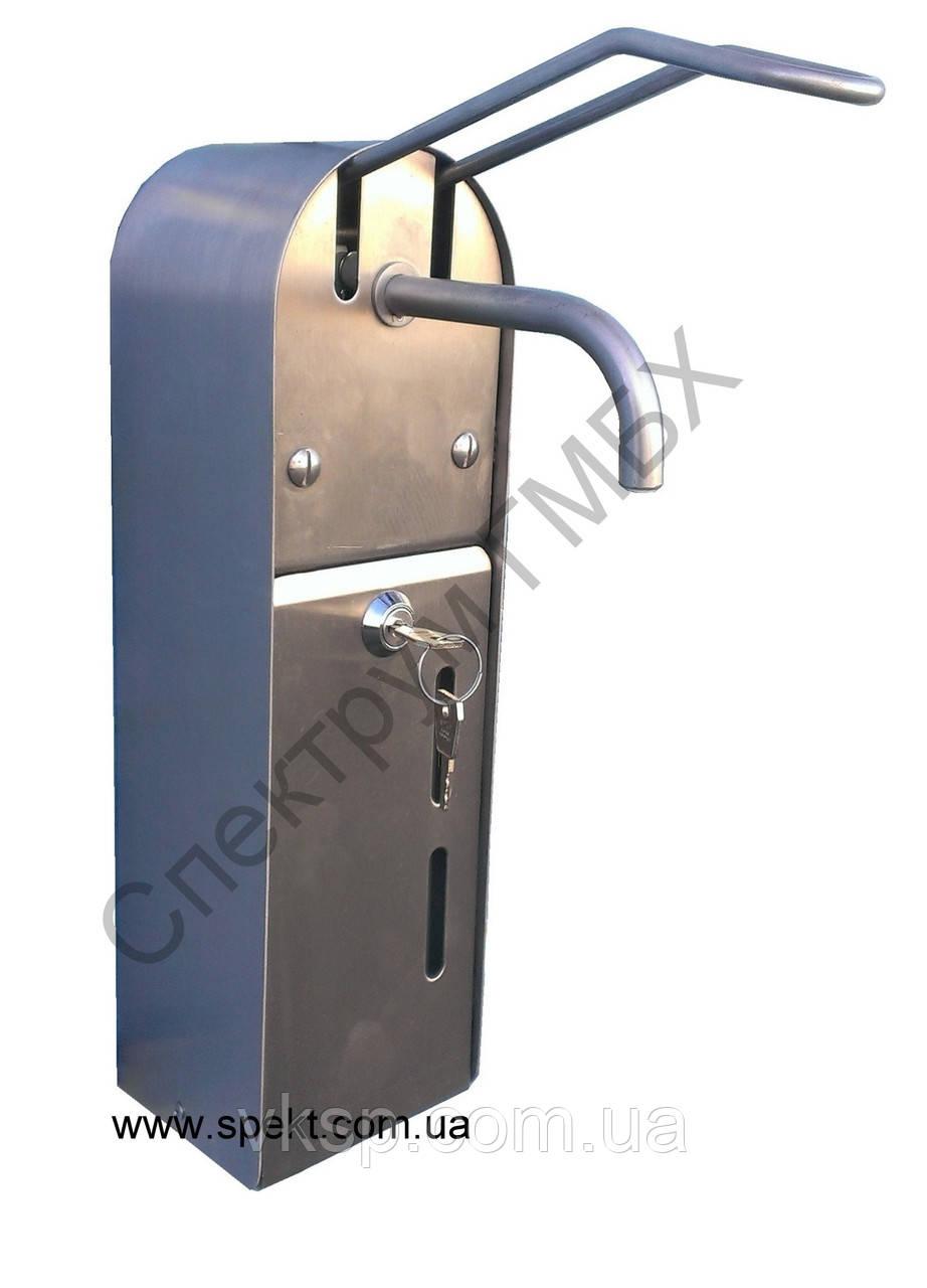 Локтевой дозатор жидкого мыла и дезинфицирующего средства из нержавейки