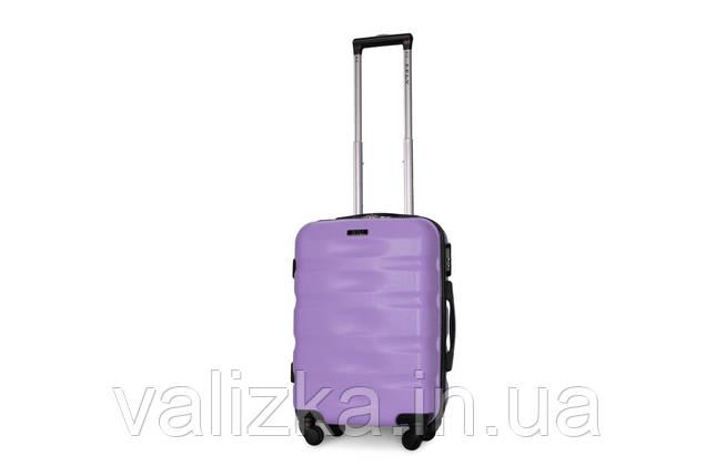 Пластиковый чемодан для ручной клади сиреневый Fly 960, фото 2