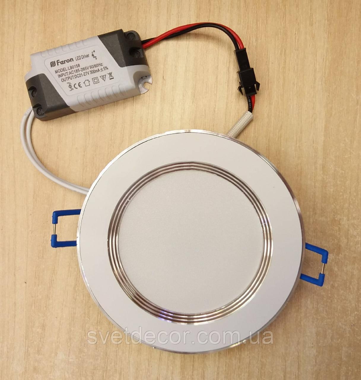 Світлодіодний світильник Feron AL527 7w 2700К білий (LED панель)