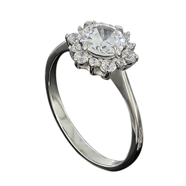 Колечко Crystal 622 White Rhodium