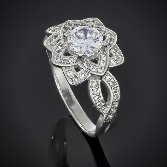 Перстень Женский 623 White Rhodium