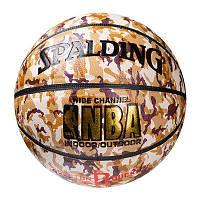 "М'яч баскетбольний Spalding №7 PU Houston Rockets, ""плями"""