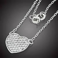 Колье Heart 635 Rhodium