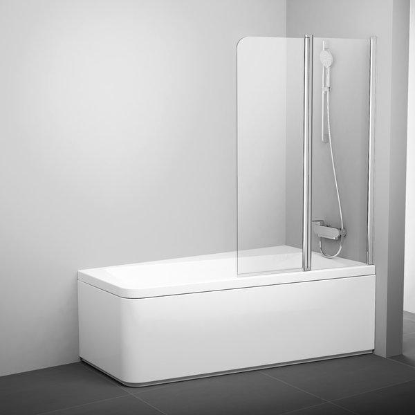 Шторка для ванни Ravak 10CVS2-100 R полір. алюм.+Transparent (7QRA0C03Z1)