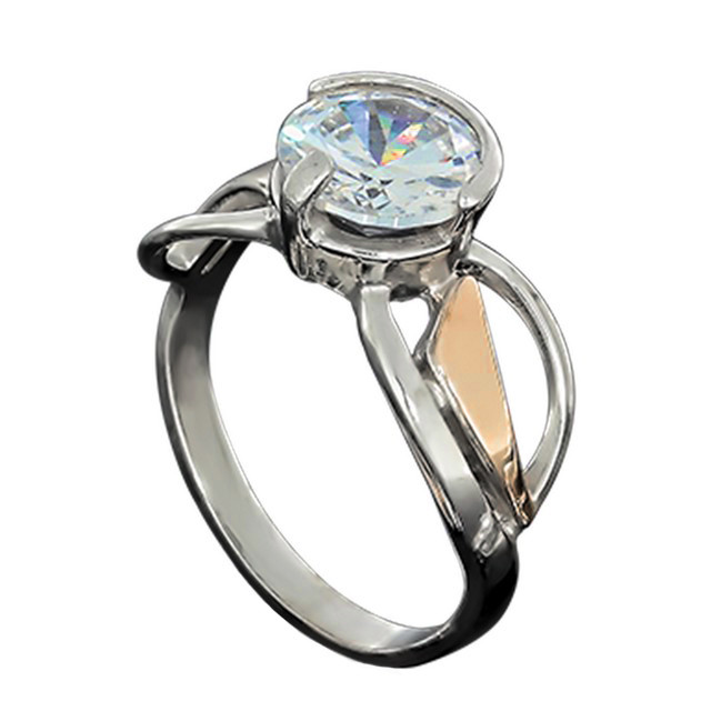 Перстень Женский 645 White Rhodium