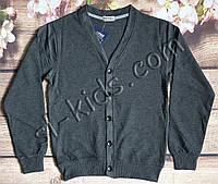 Кардиган FIGO для хлопчика 134-164 см (темно сірий) (пр. Туреччина)