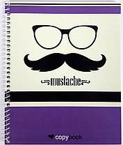 """Блокнот для заметок В5, бок. пружина, 60 листов офсет, клетка """"Серия Mustache"""", обложка мягкая Ц355035У, фото 2"""