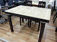 Стол кухонный раскладной со столешницей из искусственного камня