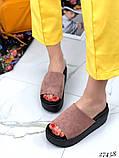 Женские шлепки шлепанцы на высокой платформе,танкетка 8 см и 6 см, фото 7