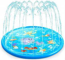 Вуличний, Надувний, Водний, Ігровий Килимок-Бризговики Басейн для Дітей, 170 см від Yknot (LCF107)