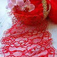 Французское кружево (шантильи) / цвет красный / ширина 17,5 см / упаковка 3 м