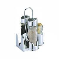Набор для  специй соль,перец, салфетница и зубочистки 0107 (42-10)