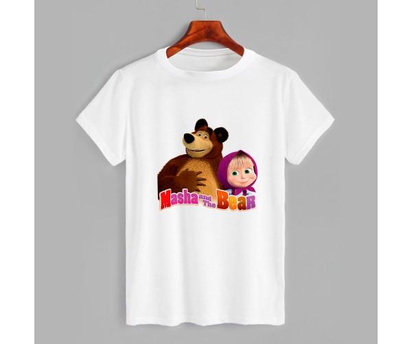 Футболка детская с принтом Маша и Медведь 3
