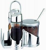 Набор для специй стекло+пластик 5-ти предметный (74-629)