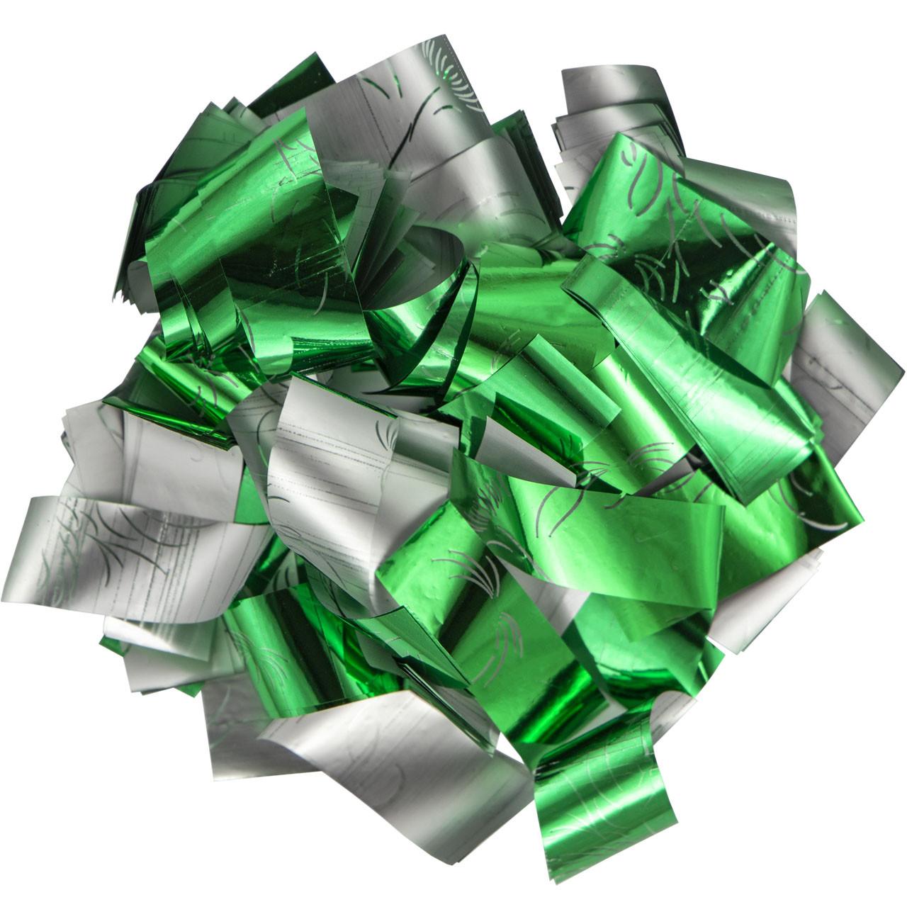 Конфетти-Метафан ЛК616 Зелено-Серебряный 2х6 1кг