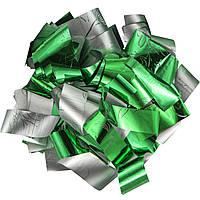 Конфетти-Метафан ЛК616 Зелено-Серебряный 2х6 1кг, фото 1