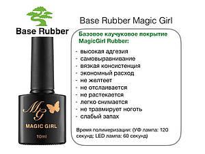 Базовое каучуковое покрытие Magic Girl Rubber для гель-лака 10мл
