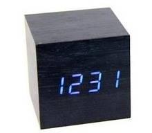 Настольные часы VST 869 Синяя подсветка Черный