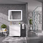 Зеркало Sanwerk ULTRA «Космо Zoom» 1180 × 830 белое с линзой, фото 3
