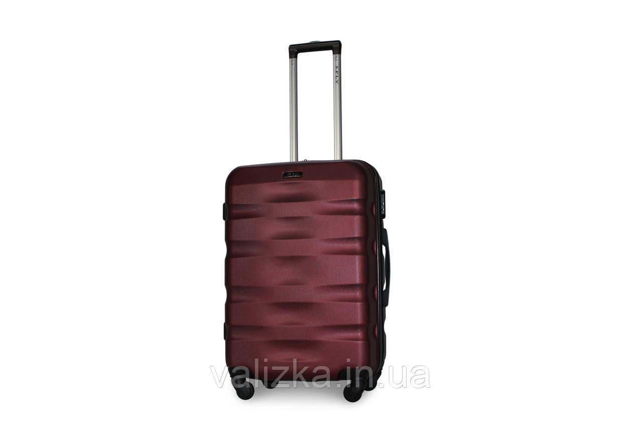 Средний пластиковый чемодан бордовый Fly 960