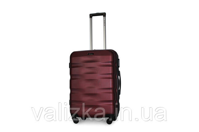 Средний пластиковый чемодан бордовый Fly 960, фото 2