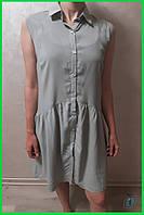 Женское летнее батистовое платье сарафан светлый хаки или серо - зеленый