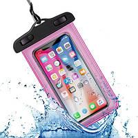 Водонепроницаемый чехол / кейс для телефона универсальный Alitek Pink
