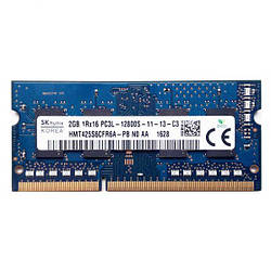 Б/У оперативная память для ноутбука Hynix 2Gb DDR3L PC3L-12800S SODIMM 1600Mhz