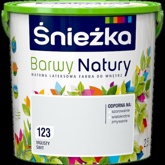 Краска латексная Sniezka Barwy Natury 123Т Туманный рассвет 2.5 л