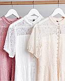 Летнее ажурное гипюровое платье свободного кроя на пуговках, 4цвета  р.42-46 код 582Т, фото 3