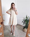 Летнее ажурное гипюровое платье свободного кроя на пуговках, 4цвета  р.42-46 код 582Т, фото 7